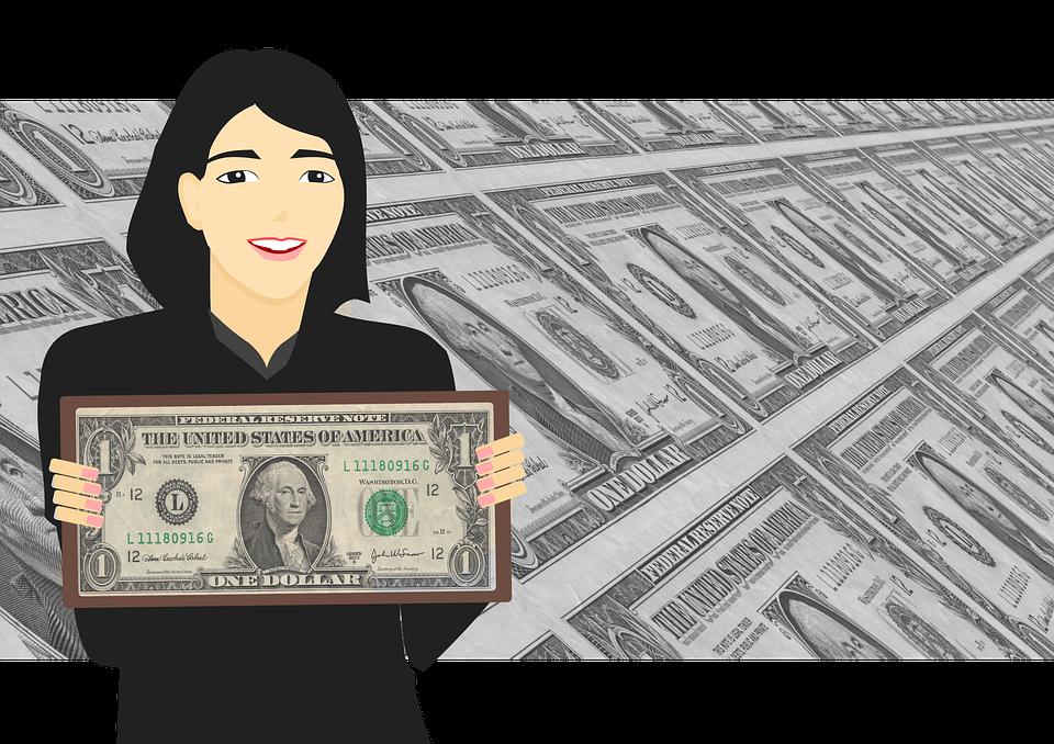 žena a dolary