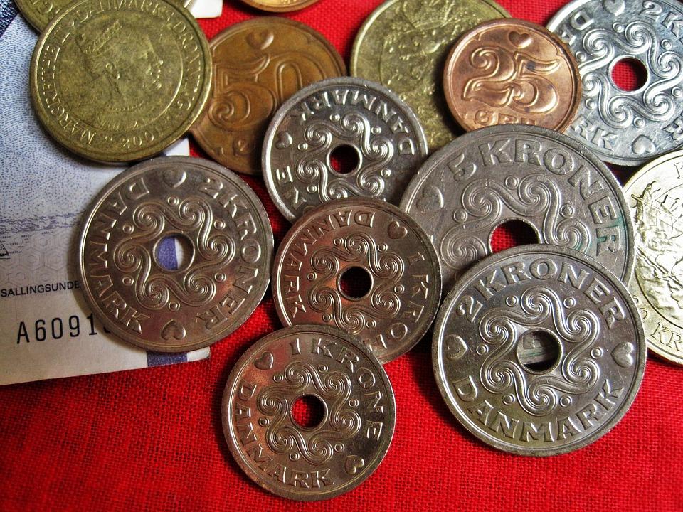 dánské mince