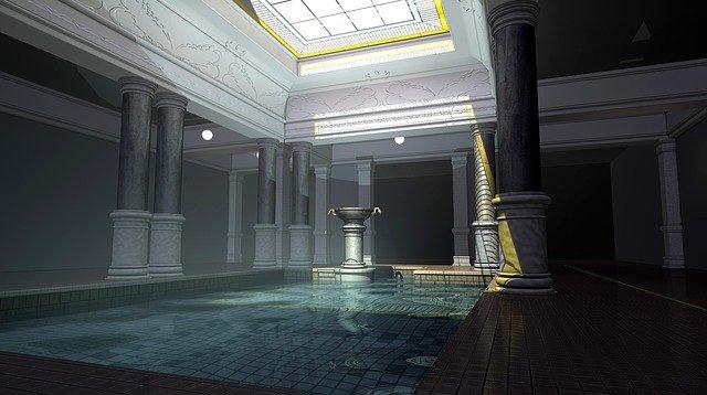 bazén v antickém stylu