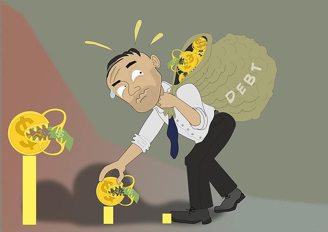 zadlužený chlap